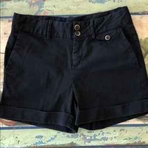 ZARA Basic Shorts Black Cuffed Ladies Medium  EUC